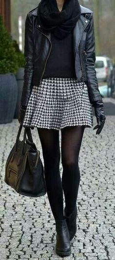 40 Sexy Winter Skirt Outfit Ideas