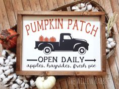 Place this sign on your mantle or a shelf with fall candles, grapevine pumpkins, and various other rustic fall decor for an instant farmhouse feel. Fall Wood Signs, Fall Signs, Wooden Signs, Rustic Fall Decor, Fall Home Decor, Halloween Signs, Fall Halloween, Halloween Chalkboard, Happy Halloween