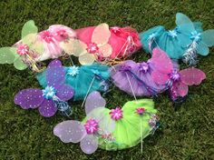 6 Winx Club Fairy Wings Tutu Fairy WandsFairy by partiesandfun, $111.00. Also check out my Fairy theme tutus and party favors. www.partiesandfun.etsy.com