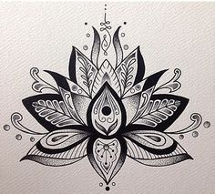 Unalome and Lotus Flower...