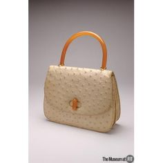 Gucci bag,  1965, worn by Lauren Bacall. Ostrich leather.  The Museum at FIT - Online Collections