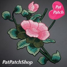 Full Bloom Lotus flower and Flower patch sew on patch embroidered patch applique  Size : 27 cm X 18 cm    Quantity : 1 patch