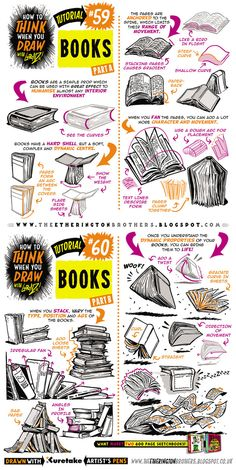 How to draw BOOKS and SPELL BOOKS tutorial by STUDIOBLINKTWICE.deviantart.com on @DeviantArt