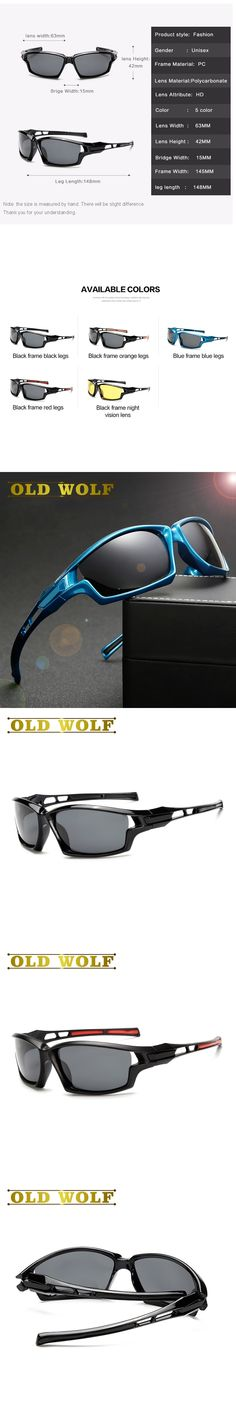 OLD WOLF Newest Quality Polarized Sunglasses Men Sun Glasses For Driving Night vision Gafas De Sol Hipster Essentia SG128