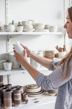One glance inside Annemieke Boot's Amsterdam ceramics studio and you will see that her work is deeply inspired by Scandinavian simplicity, her designs derived from pure, simple forms. With a keen eye for detail, Annemieke admits that she once was intent to make each and every piece exactly the same