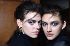 """The 80s made a surprise return at Toga where Sada Ito, Nars International Lead Stylist gave the girls watercolour eyes; """"the navy, pink and whites are all blended to give this beautiful, slight imperfect feel.""""   - Cosmopolitan.co.uk"""