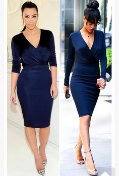 kim k long sleeve dress styles