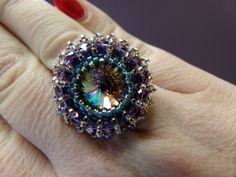 Mirror to My Soul Ring Pdf Tutorial INSTANT by offthebeadedpath