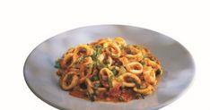 calamars sauce piquante, anneaux de calamars, vinaigre balsamique, plat