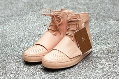Picture of Custom adidas Yeezy 750 Boost With Premium Tan Leather