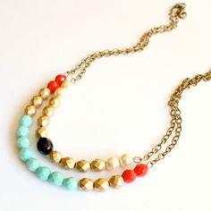 Double Chunky Beaded Necklace
