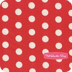 Nursery Fabric: Fatquartershop.com - Textured Basics by Patty Young for Michael Miller Fabrics - Red Cool Dots SKU# DC5807-REDX-D $10.75