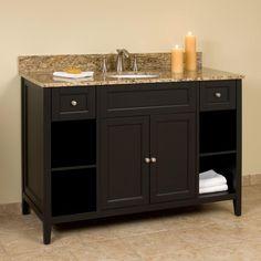"48"" Jenner Vanity for Undermount Sink - Black Cabinet Only"