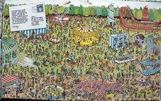 where's wally fun fair Hidden Pictures, Funny Pictures, Hidden Pics, Canvas Poster, Poster Prints, Wo Ist Walter, Ou Est Charlie, Wheres Wally, Fun Fair