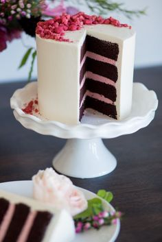 Raspberry cake: http://www.stylemepretty.com/living/2015/05/20/fancy-girls-night-in/ | Photography: Whitney Hunt - http://whitneyhuntphotography.com/