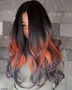 Red Ombre Hair, Beautiful Hair Color, Hot Hair Styles, Halloween Hair, Hair Color Highlights, Hair Brained, Dye My Hair, Hair Dos, Fall Hair