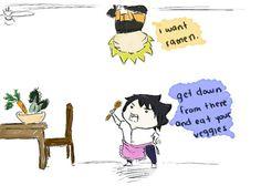 Naruto and Veggies XD Nope, not a good mix. SasuNaru NaruSasu