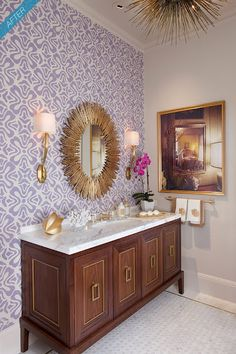 I must have this palm springs style  bathroom.  Makes me think of my Trina Turk wardrobe!