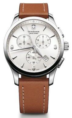 Swiss Watch Brands   ... Swiss Army 241480 Alliance Chronograph Brown Leather Men's Watch