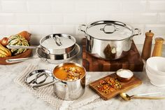 View All-Clad cookware, bakeware, electrics and kitchen utensils. All-Clad Made in the USA bonded cookware. Stay Fresh, Bowl Of Soup, Cookware, Wednesday, Essentials, Construction, Warm, Cooking, Collection