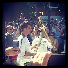 Photo by cjronson • Instagram Mark Ronson running with the torch #olympics