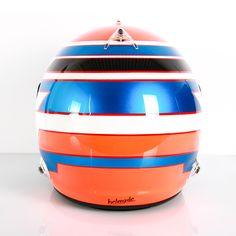 #helmade #formula design on an #arai #gp6s #automotive #racing #helmet. Design yours on www.helmade.com #metallicblue #orange #racing #car #bornfrommotorsports #helmetpaint #helmetporn #customhelmet #helmetdesign