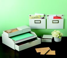 Create a sorting station in a kitchen or office to organize incoming papers. Click for a 50% off coupon!