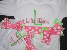 Personalized Monogrammed Baby Girl Bodysuit & by SofiaBabyBoutique, $39.99