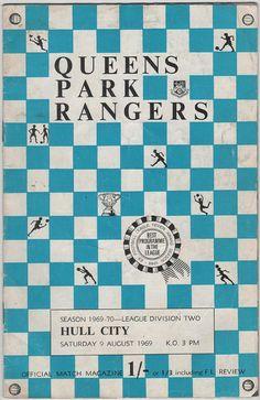 Vintage Football (soccer) Programme - Queens Park Rangers v Hull City, 1969/70 season #football #soccer