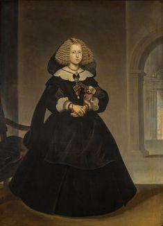 1644 Mariana de Austria by Frans Luycks (Museo del Prado - Madrid, Spain). From their Web site. Historical Costume, Historical Clothing, Austria, Spanish Royalty, Spanish Woman, European Dress, Spanish Fashion, Baroque Fashion, Mariana