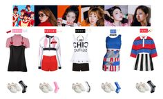 """RED VELVET - DUMB DUMB❤️"" by vvvan99 ❤ liked on Polyvore featuring River Island, Ødd., Boutique Moschino, Moschino, Topshop and GCDS"