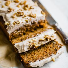 Permalink to: Healthier Carrot Cake Banana Bread with Cinnamon Cream Cheese Frosting Carrot Banana Cake, Cinnamon Banana Bread, Easy Carrot Cake, Healthy Carrot Cakes, Healthy Banana Bread, Banana Bread Recipes, Cinnamon Cream Cheese Frosting, Cinnamon Cream Cheeses, Savoury Cake