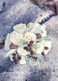 """Bouquet de mariée """"thème hiver"""" Plus"""