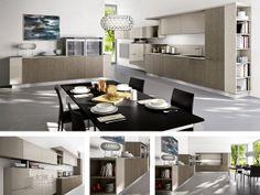 cucina lineare moderna in frassino color miele. | arredissima ... - Arredissima Cucine