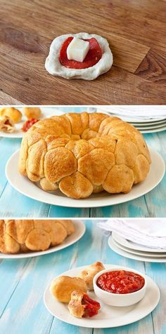 After school snack: Pepperoni pizza monkey bread. My boys might really eat this! Think Food, I Love Food, Good Food, Yummy Food, Pizza Monkey Bread, Bread Pizza, Pizza Pizza, Pizza Party, Pizza Ball