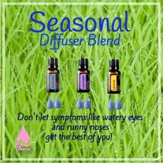 How We Naturally Get Through the Season of sneezing, watery eyes, runny nose. Essential Oils to the rescue. No one wants to go through life like a medicated zombie. There's no reason to suffer when essential oils can support your body and stop the symptoms in their tracks! I love doTERRA's Lemon, Lavender, and Peppermint combined . Check out my blog post for all the ways we use these oils to help during this time of year. This diffuser blend is just one way we combat seasonal threats.