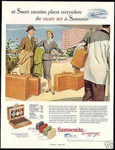 Samsonite Luggage Assorted Styles (1952)