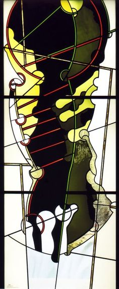 """Ludwig Schaffrath (1924 – 2011), 2004, """"Fossil 4"""" Stained Glass Patterns, Stained Glass Art, Fused Glass, Glass Beads, Leaded Glass Windows, Ludwig, Glass Etching, Mosaics, Fossil"""