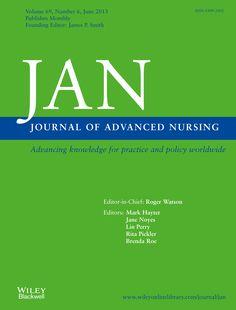 Публикации в журналах, наукометрической базы Scopus  Journal of Advanced Nursing  #Advanced #Nursing #Journals #публикация, #журнал, #публикациявжурнале #globalpublication #publication #статья