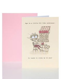 Age is Like Humour Card