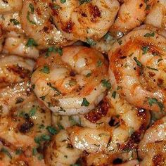 Ruth Chris Steak House Barbecue Shrimp Orleans Recipe For Ruths Chris Steak House BBQ Shrimp Orleans - Sautéed New Orleans style in reduced white wine, butter, garlic and spices, drenched with a delicious barbecue butter. Fish Recipes, Seafood Recipes, Cooking Recipes, Cooking Chef, Atkins Recipes, Chicken Recipes, Coconut Shrimp Recipes, Grilled Shrimp Recipes, Couscous