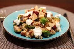 Schöner Tag noch!: Nachgekocht: Ofengerösteter Rosenkohl mit Perlgraupen, Cranberries und Ziegenfrischkäse