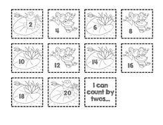 Skip Counting by 2s, 5s, and 10s: a FREE cut & paste order