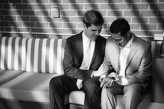 Charles & Scott's offbeat, intimate same sex wedding in Washington, DC .... at their apartment complex!!