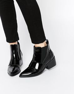 25e078032fd02 ASOS RUN AWAY Pointed Chelsea Ankle Boots at asos.com