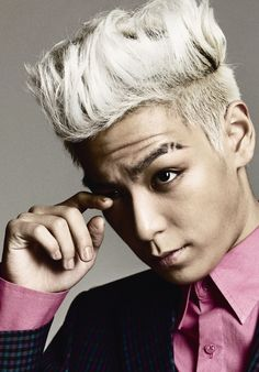 Are eyebrows allowed for hair trends? Well here's BIGBANG's T.O.P for Korean fashion magazine, High Cut.