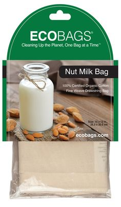 ECOBAGS Organic Nut Milk Bag
