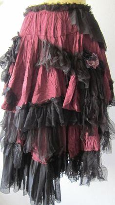 Layered Gypsy Gothic Skirt