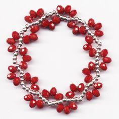 Handmade Bracelets, Bangle Bracelets, Jewelry Necklaces, Memory Wire Jewelry, Beaded Jewelry Patterns, Homemade Jewelry, Bijoux Diy, How To Make Necklaces, Beaded Earrings