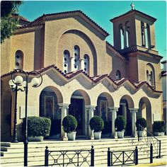 Agios Georgios on Tatoiou Avenue. Green Street, Athens Greece, Greek, Walking, Mansions, House Styles, City, Places, Beautiful